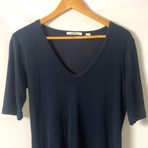 Country Road Navy Blue 3/4 T-Shirt Top Size XL